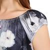 Imprimée Floral Gris Chemise de Nuit Soie