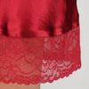Violetto Rosso Camicia da notte di seta donna