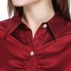 Rouge Vineux Chemise Soie Femme