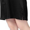 Noir Chemise de Nuit Soie Grande Taille Femme