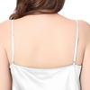 Blanc Chemise de Nuit Soie Grande Taille Femme