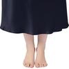 Bleu Marine Chemise de Nuit Soie Grande Taille Femme