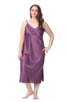 Chemise de Nuit Soie Grande Taille Femme