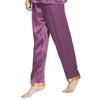 Violet Pantalon Femme Soie