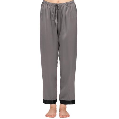Gris Foncé Pantalon Femme Soie