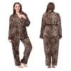 Léopard Pyjama Soie Grande Taille Femme