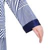 Bleu et Blanc Pyjama Femme Soie