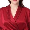 Rouge Vineux Pyjama Soie Grande Taille Femme