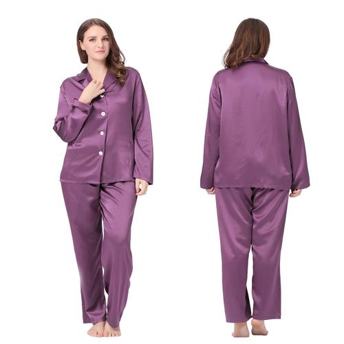 Violet Pyjama Soie Grande Taille Femme
