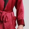 Rouge Vineux Robe de Chambre Homme Soie