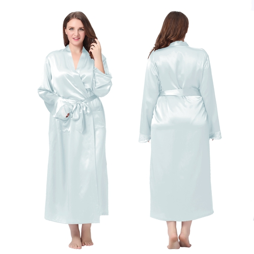 Robe De Chambre Femme En Soie 22 Momme D Tail Dentelle Grande Taille Lilysilk