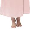 Rose Clair Robe de Chambre Soie Grande Taille Femme