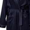 Bleu Marine Robe de Chambre Soie Grande Taille Femme