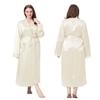 Beige Robe de Chambre Soie Grande Taille Femme
