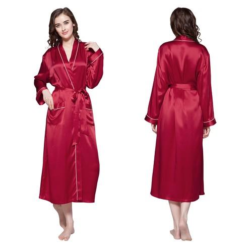 Violetto Rosso Robe de Chambre Femme