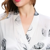 Lotus Blanc Robe de Chambre Femme Soie