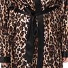 Léopard Robe de Chambre Soie Grande Taille Femme