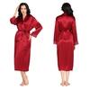 Violetto Rosso Accappatoio di seta da donna