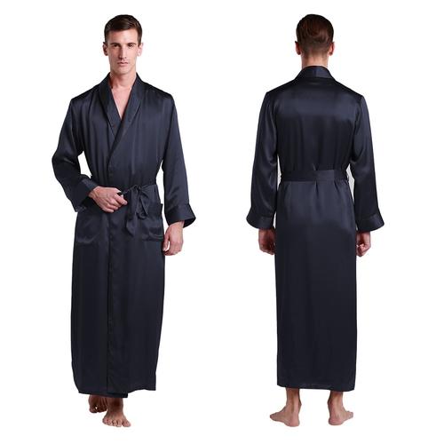 robe homme en soie plein longueur classique. Black Bedroom Furniture Sets. Home Design Ideas