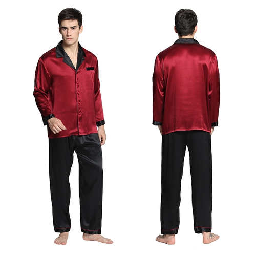 Violetto Rosso Pyjama Homme Soie