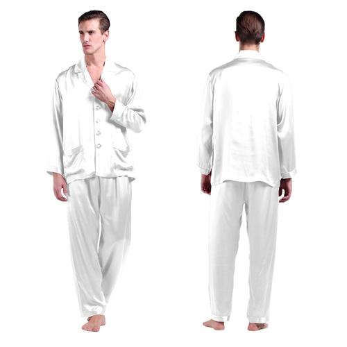Bianco Pyjama Homme Soie