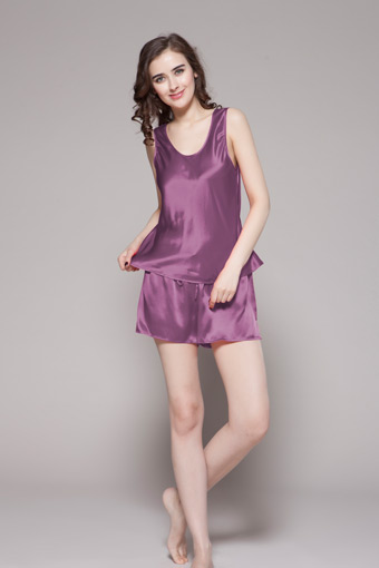 22 Momme Free Scoop Silk Camisole Set S Violet 0d2f2edfb