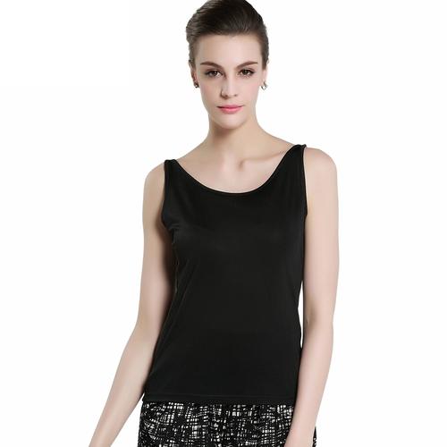 Black Silk Vest