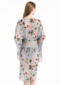 Floral Grey Silk Kimonos