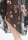 Floral Black Silk Kimonos