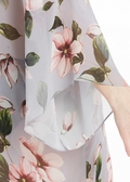 Gris Floral Kimono en Soie