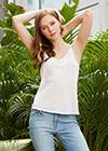 Natural White Silk Camisoles