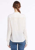 Natural White Silk Shirts