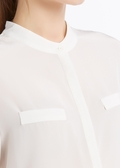 Natural White Silk Shirts
