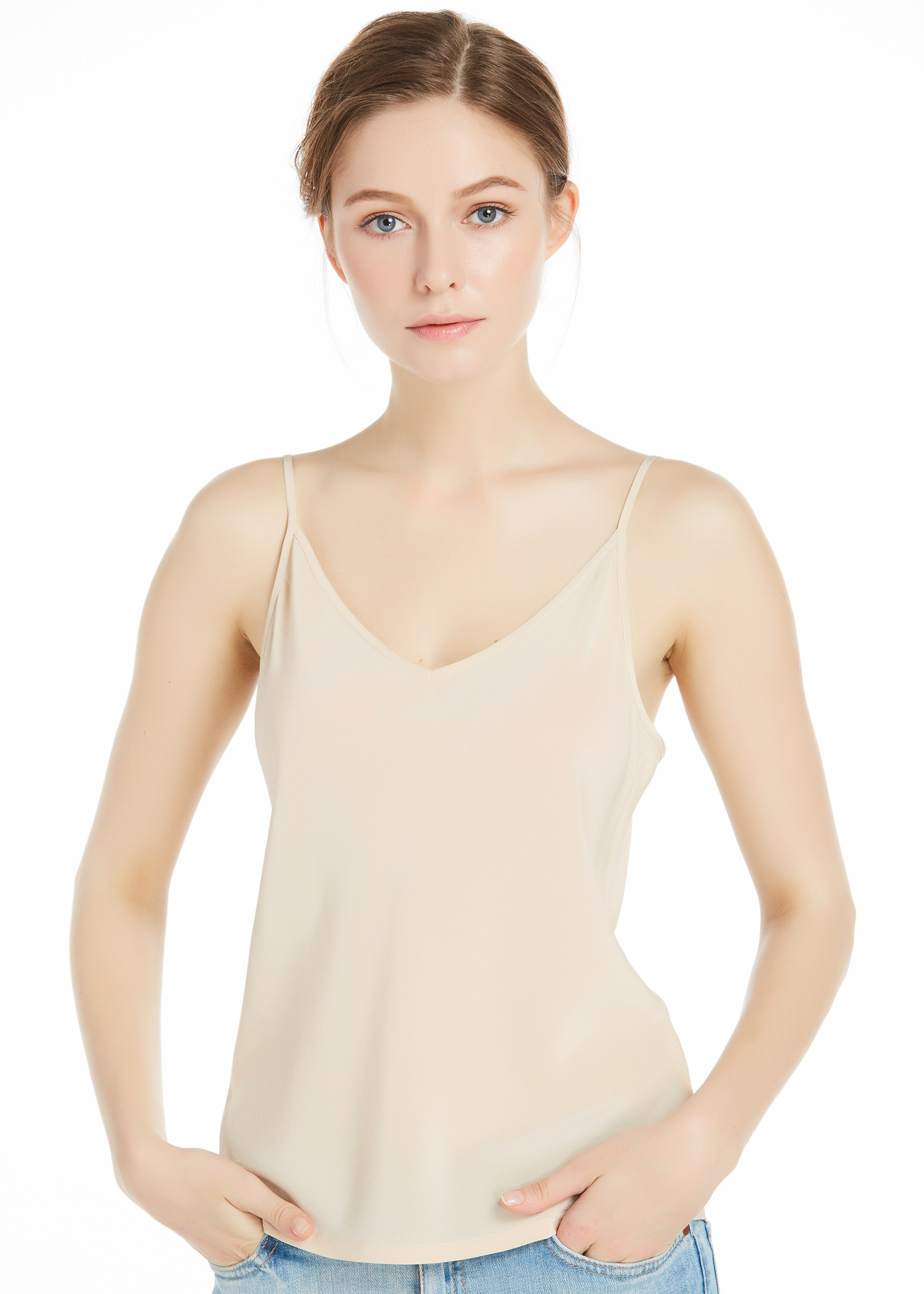 18mm Shifting Sand Basic Silk Camisole Hot Sale On Lilysilk