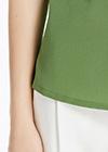 Kale Green Silk Blouses