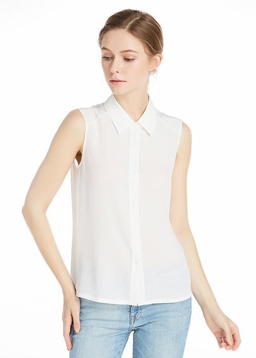 Natural White Silk Blouses