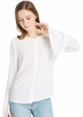 Natural White Silk Blouses