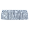Light Blue Silk Crib Skirt