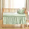 Light Green Silk Crib Skirt