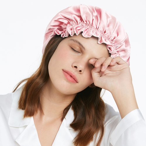 19 Momme Concise Silk Sleep Cap With Little Bow