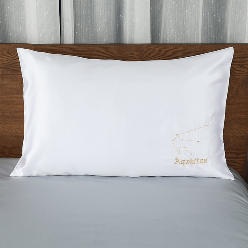 19 Momme Constellation Embroidered Silk Pillowcase