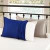 表:ブルー & 裏:シルバーグレー 枕カバー