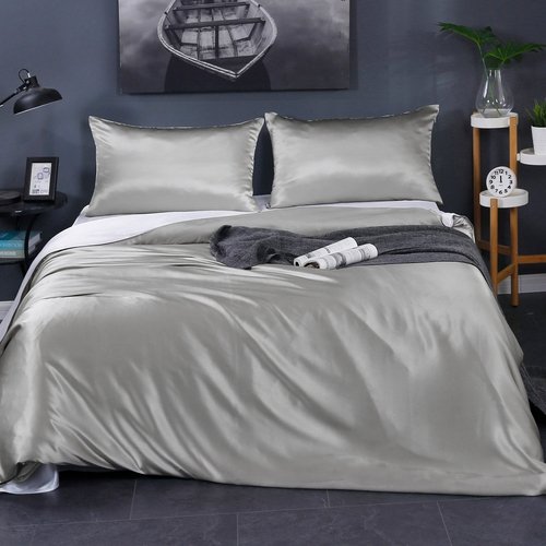 19 Momme Contrast Color Silk Duvet Cover