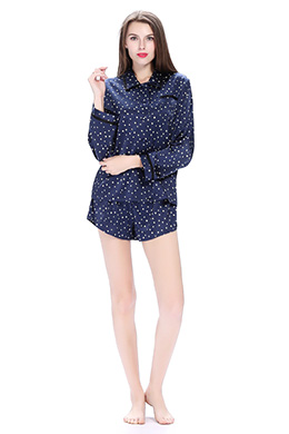 Women Short Silk Pyjamas Set