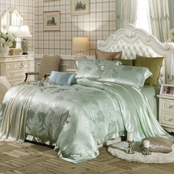Turquoise Silk Bedding Sets