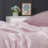 Rosy Pink Silk Duvet Cover