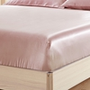 Rosy Pink Silk Fitted Sheet