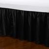 Black Silk Bed Skirt