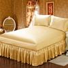 Gold Silk Bedskirt