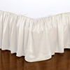 Ivory Silk Bed Valance